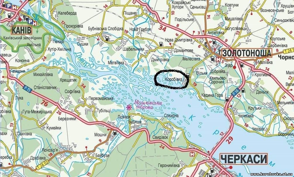 Щука, сом, судак, окунь Возможность рыбалки на донную снасть, удочку с поплавком.  Середина Украины.